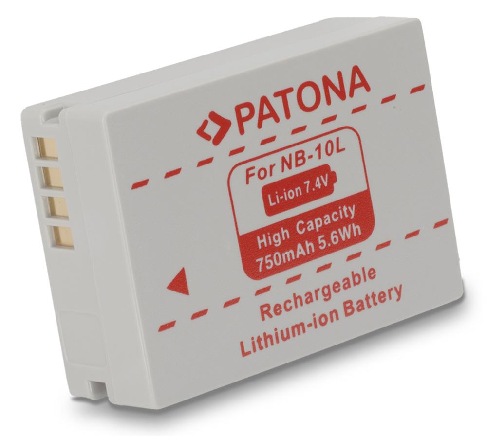 Baterie PATONA kompatibilní s Canon NB-10L Baterie, pro fotoaparát, 750mAh, Li-Ion PT1097