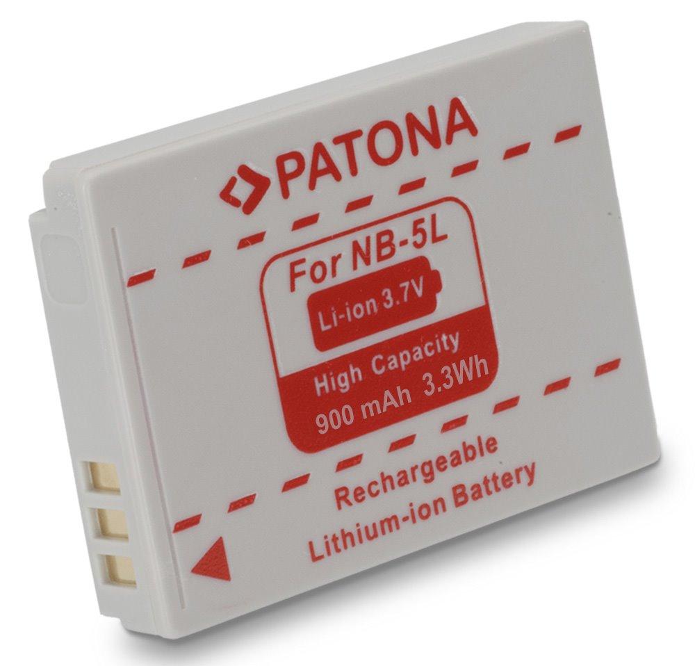 Baterie PATONA kompatibilní s Canon NB-5L Baterie, pro fotoaparát, 900mAh, Li-Ion PT1005