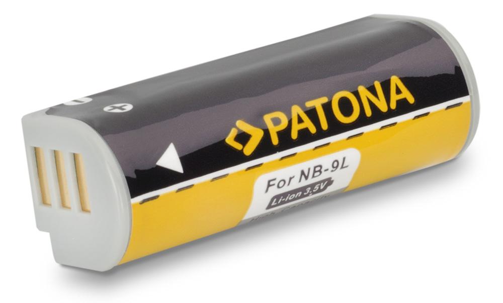 Baterie PATONA kompatibilní s Canon NB-9L Baterie, pro fotoaparát, 700mAh, Li-Ion PT1124