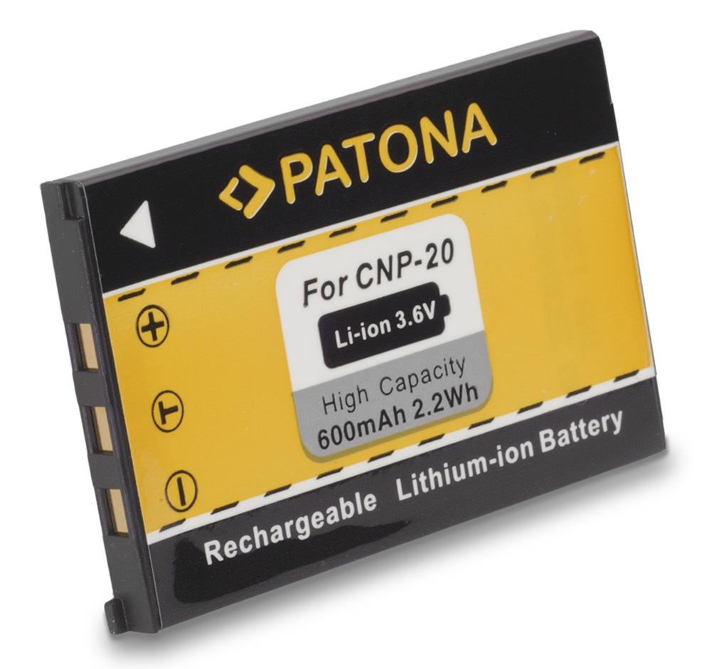 Baterie PATONA kompatibilní s Casio NP-20 Baterie, pro fotoaparát, 600mAh, Li-Ion PT1023