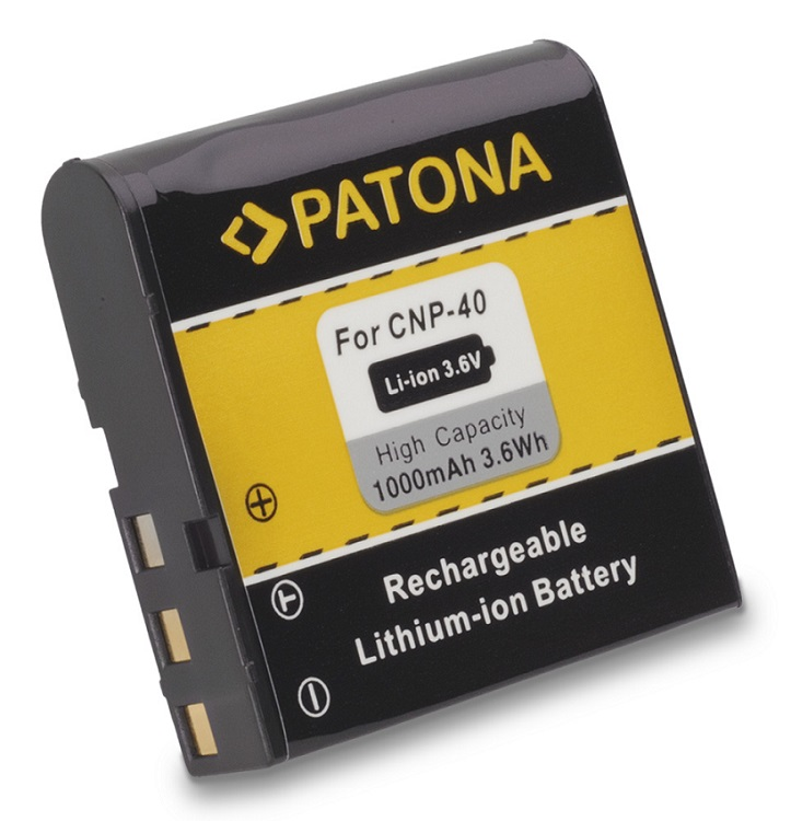 Baterie PATONA kompatibilní s Casio NP-40 Baterie, pro fotoaparát, kapacita 1000mAh PT1024