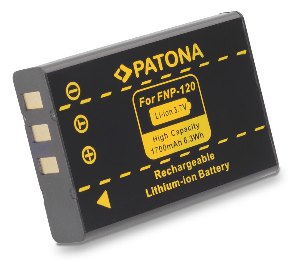 Baterie PATONA kompatibilní s Fuji NP-120 Baterie, pro fotoaparát, 1700mAh, Li-Ion PT1017