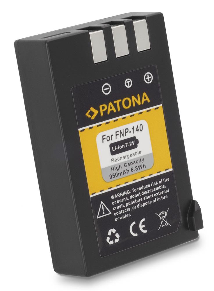 Baterie PATONA kompatibilní s Fuji NP-140 Baterie, pro fotoaparát, 950mAh, Li-Ion PT1018