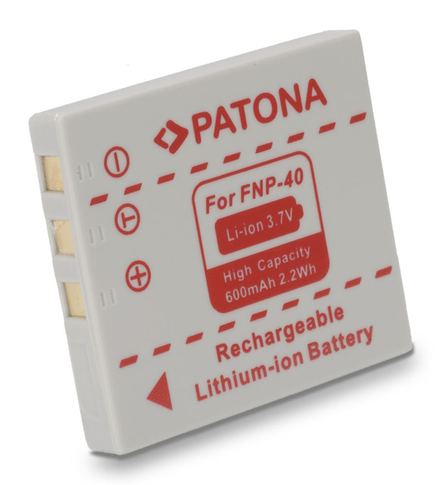 Baterie PATONA kompatibilní s Fuji NP-40 Baterie, pro fotoaparát, 600mAh, Li-Ion PT1013