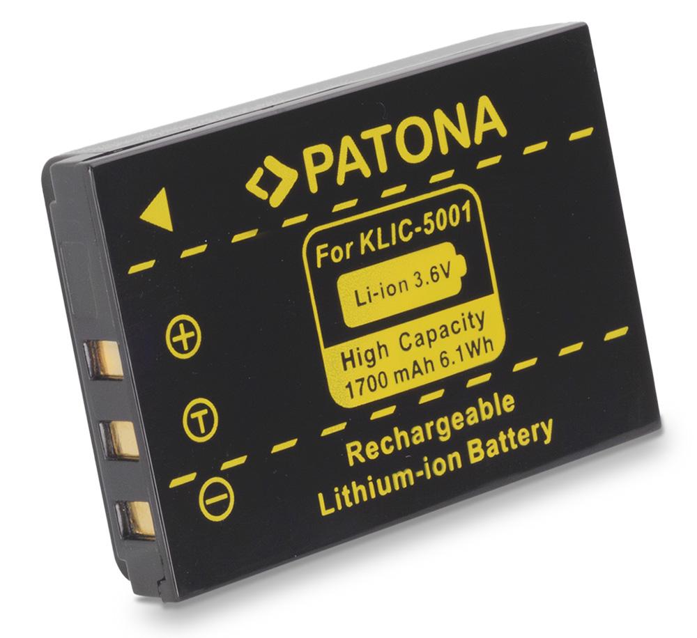 Baterie PATONA kompatibilní s Kodak KLIC 5001 Baterie, pro fotoaparát, 1700mAh, Li-Ion PT1061