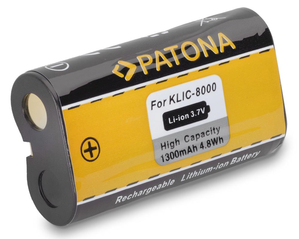 Baterie PATONA kompatibilní s Kodak KLIC-8000 Baterie, pro fotoaparát, 1300mAh, Li-Ion PT1116