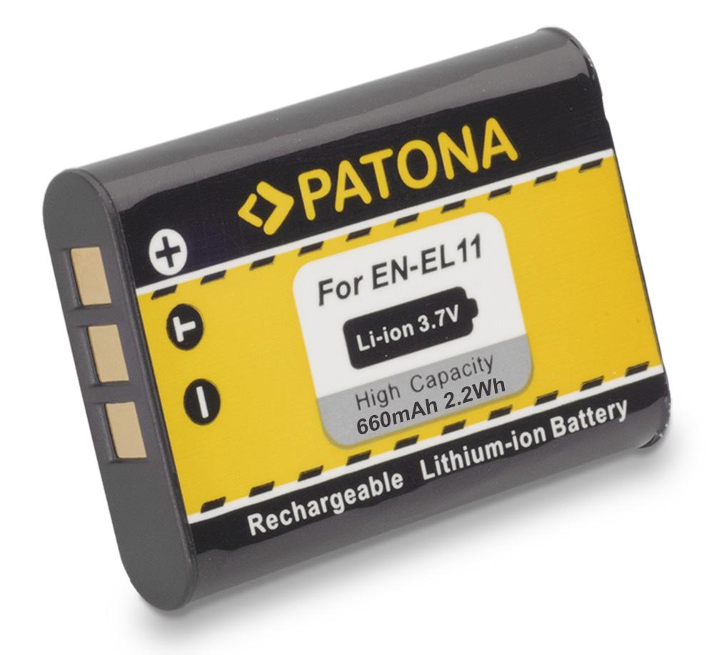 Baterie PATONA kompatibilní s Nikon EN-EL11 Baterie, pro fotoaparát, 600mAh, Li-Ion PT1073