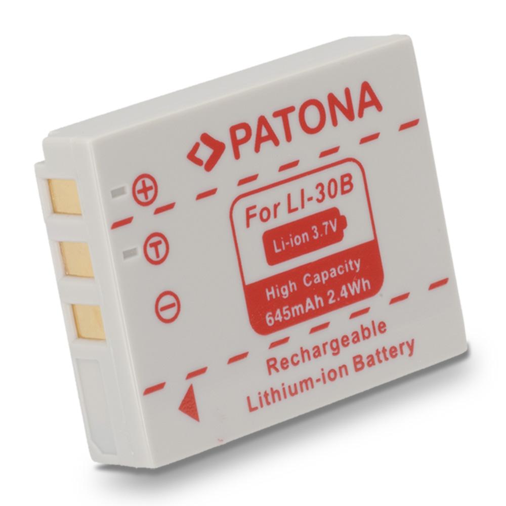 Baterie PATONA kompatibilní s Olympus Li 30b Baterie, pro fotoaparát, 645mAh, Li-Ion