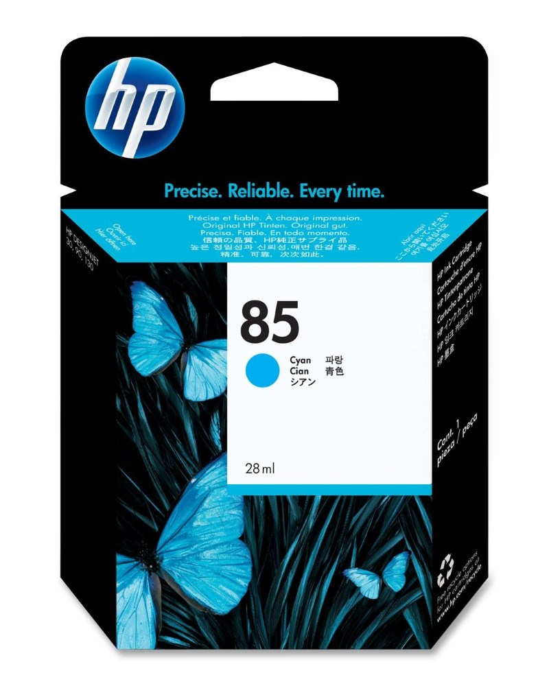 HP (85) C9425A Ink náplň No. 85, cyan (28 ml) originál