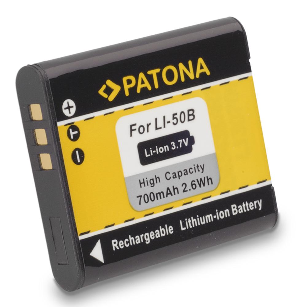 Baterie PATONA kompatibilní s Olympus Li-50B Baterie, pro fotoaparát, 700mAh, Li-Ion PT1032