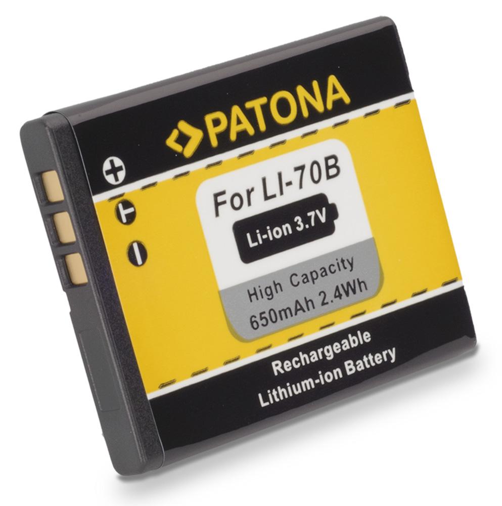 Baterie PATONA kompatibilní s Olympus Li-70b Baterie, pro fotoaparát, 650mAh, Li-Ion PT1093
