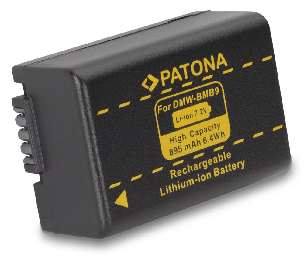 Baterie PATONA kompatibilní s Panasonic BMB9 Baterie, pro fotoaparát, 895mAh, Li-Ion PT1092