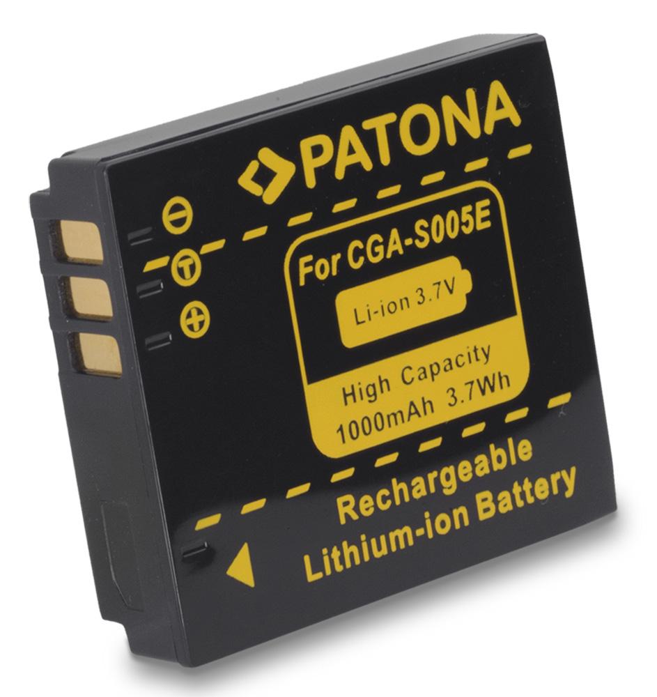 Baterie PATONA kompatibilní s Panasonic CGA-S005 Baterie, pro fotoaparát, 1000mAh, Li-Ion PT1041