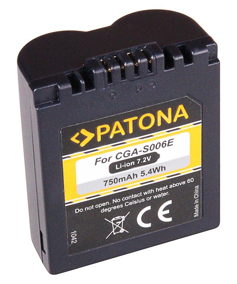Baterie PATONA kompatibilní s Panasonic CGA-S006E Baterie, pro fotoaparát, 710mAh, Li-Ion PT1042