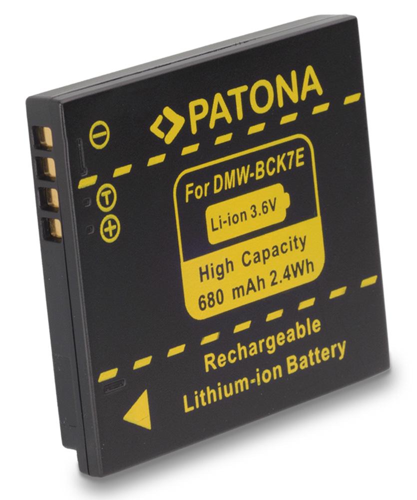 Baterie PATONA kompatibilní s Panasonic DMW-BCK7E Baterie, pro fotoaparát, 680mAh, Li-Ion PT1091