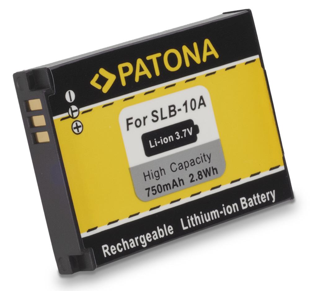 Baterie PATONA kompatibilní s Samsung SLB10A Baterie, pro fotoaparát, 750mAh, Li-Ion PT1082