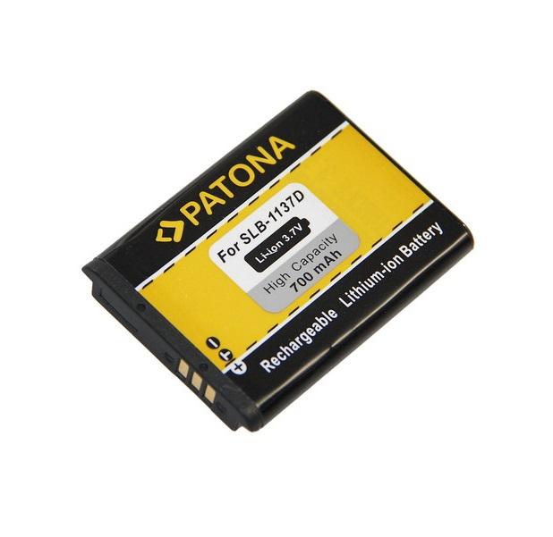 Baterie PATONA kompatibilní s Samsung SLB-1137D Baterie, pro fotoaparát, 700mAh, Li-Ion PT1115