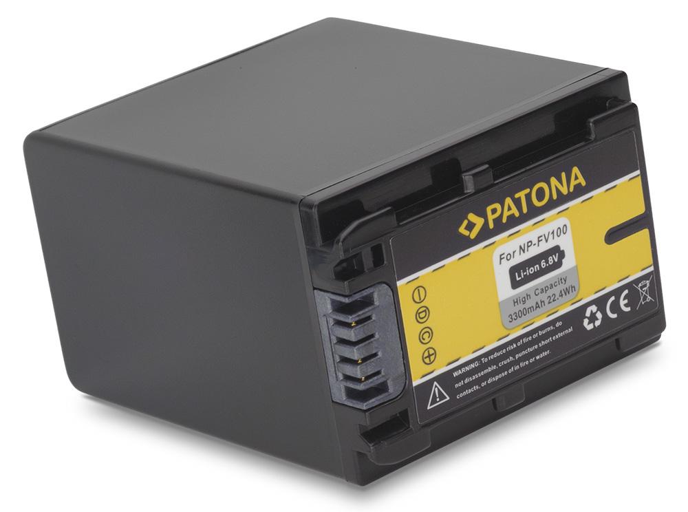 Baterie PATONA kompatibilní s Sony FV100 Baterie, pro videokameru, 3300mAh, Li-Ion PT1118