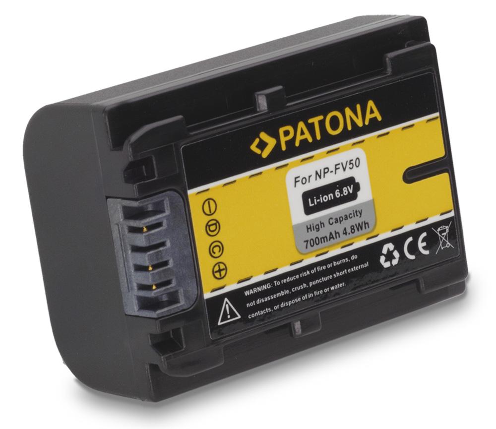 Baterie PATONA kompatibilní s Sony FV50 Baterie, pro videokameru, 700mAh, Li-Ion PT1117