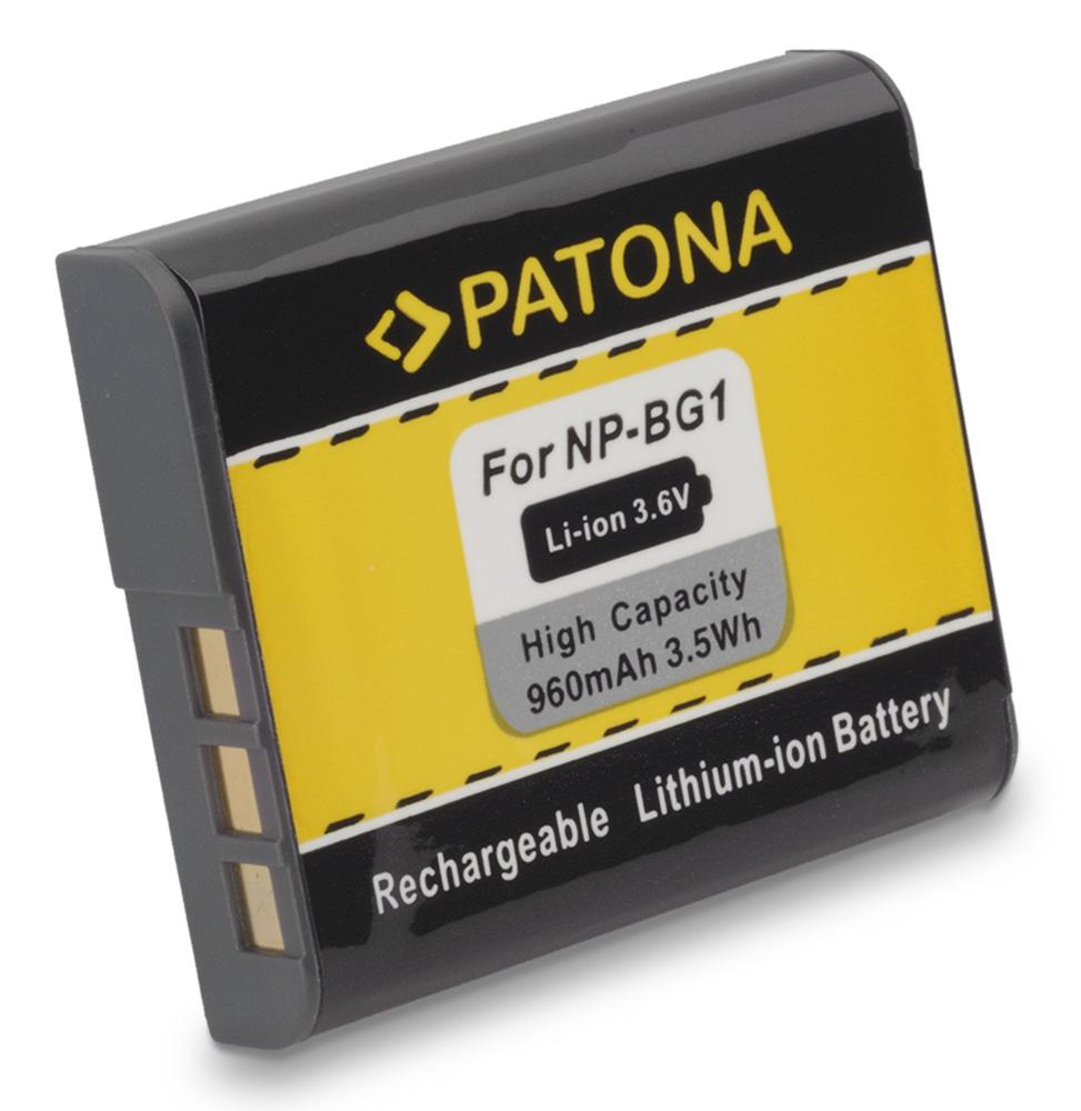 Baterie PATONA kompatibilní s Sony NP-BG1 Baterie, pro fotoaparát, 960mAh, Li-ion, 3,6V PT1050
