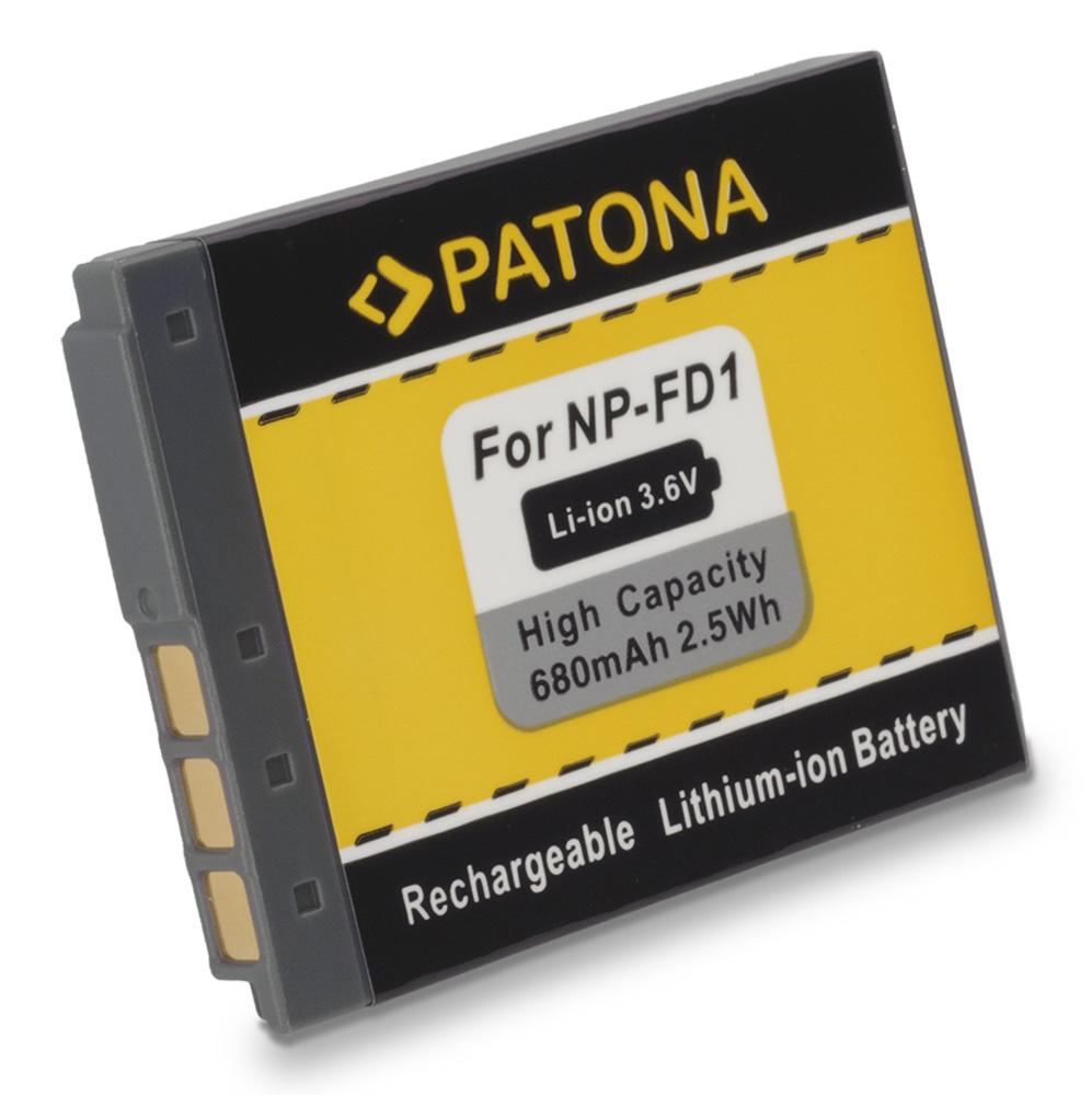 Baterie PATONA kompatibilní s Sony NP-FD1 NP-BD1 Baterie, pro fotoaparát, 680mAh, Li-Ion PT1060
