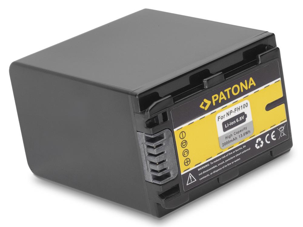 Baterie PATONA kompatibilní s Sony NP-FH100 Baterie, pro videokameru, 2000mAh, Li-Ion PT1058