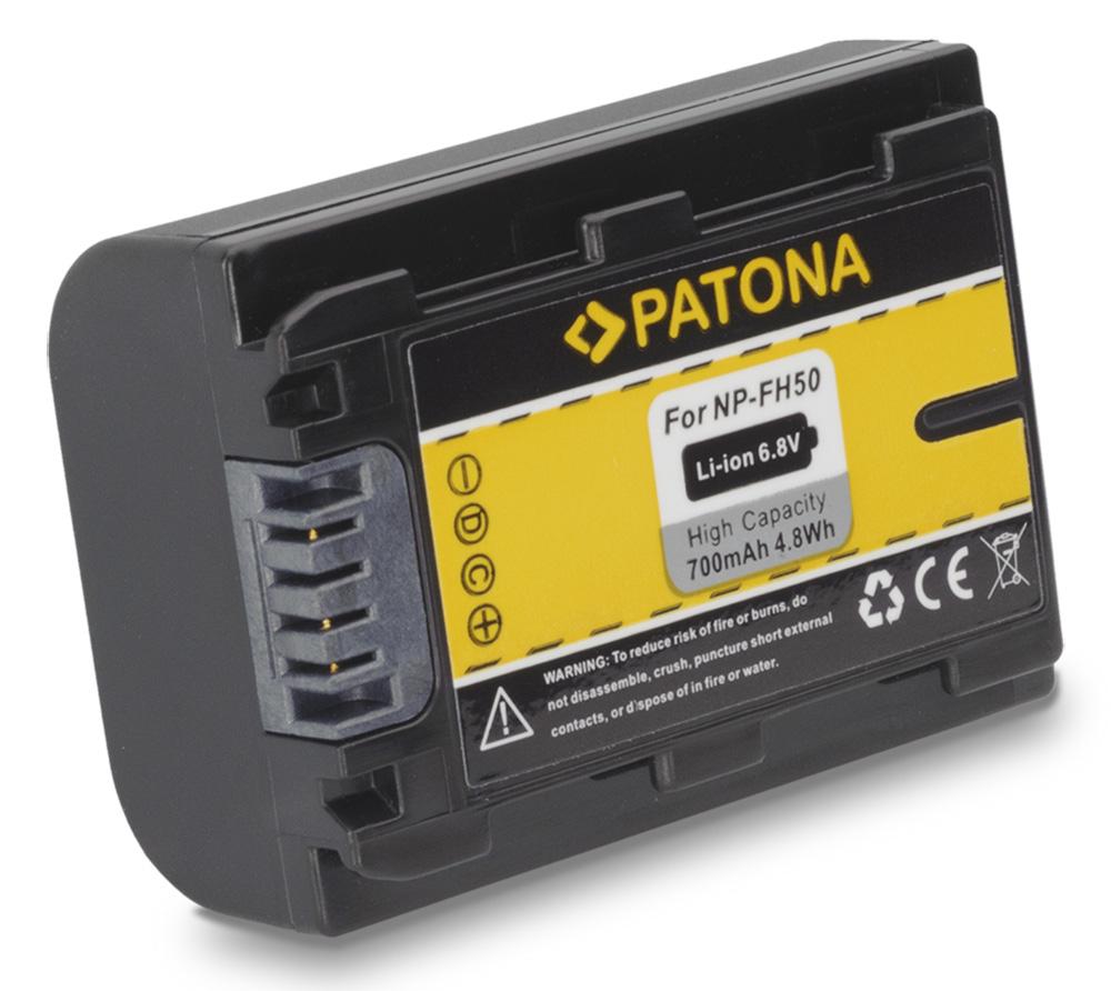 Baterie PATONA kompatibilní s Sony NP-FH50 Baterie, pro videokameru, 700mAh, Li-Ion PT1119