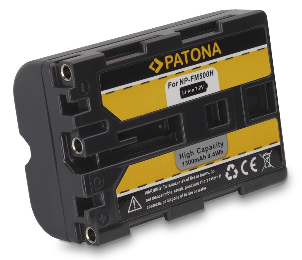 Baterie PATONA kompatibilní s Sony NP-FM500 Baterie, pro fotoaparát, 1300mAh, Li-Ion PT1071