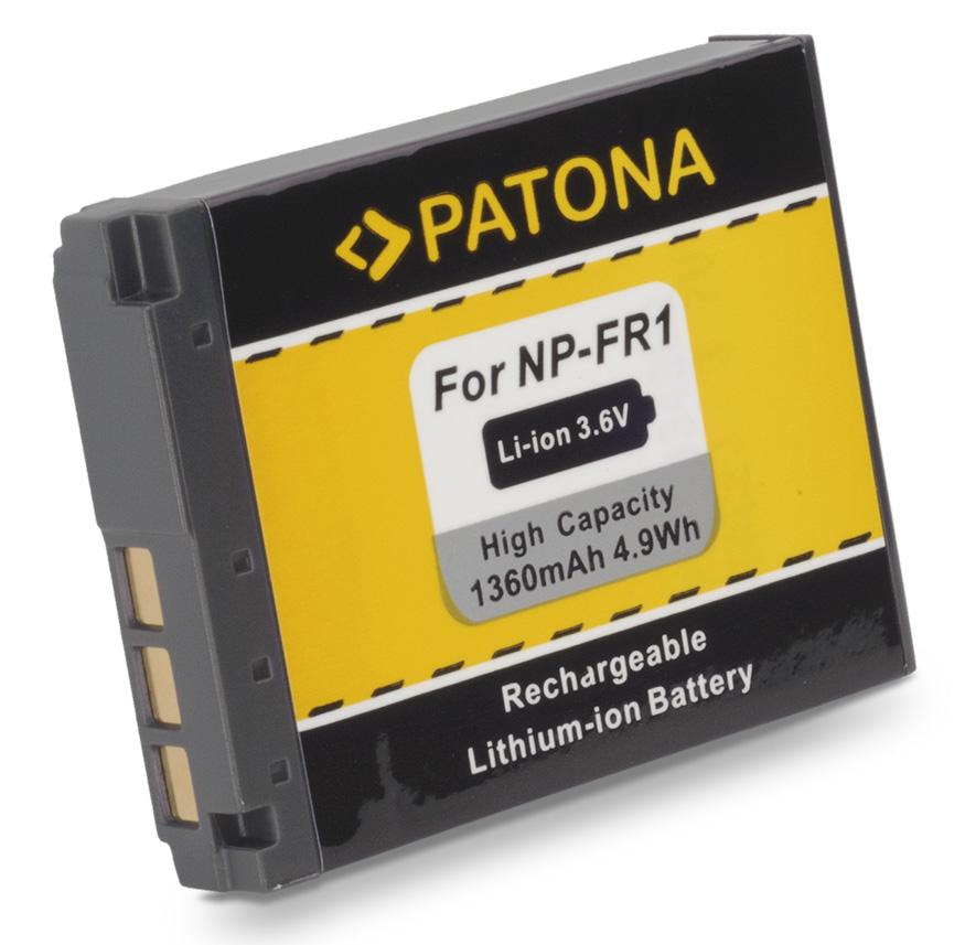 Baterie PATONA kompatibilní s Sony NP-FR1 Baterie, pro fotoaparát, 1220mAh, Li-Ion PT1054