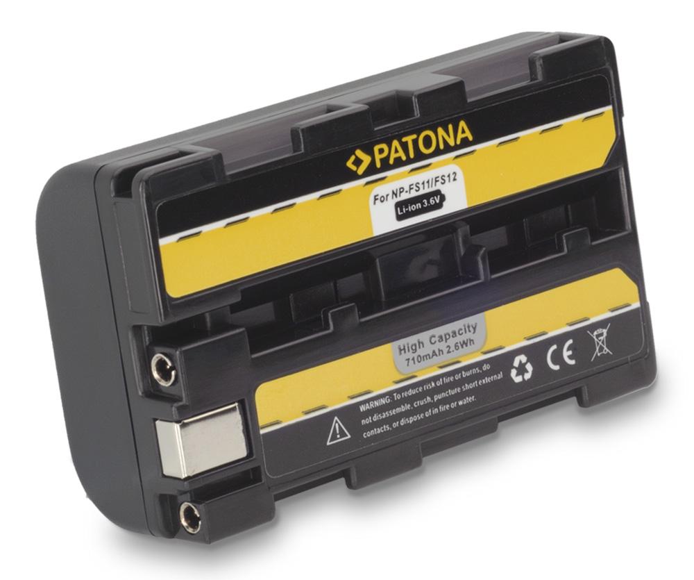 Baterie PATONA kompatibilní s Sony NP-FS11 Baterie, pro fotoaparát, 1360mAh, Li-Ion PT1055