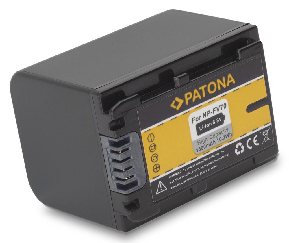 Baterie PATONA kompatibilní s Sony NP-FV70 Baterie, pro videokameru, 1500mAh, Li-Ion PT1081