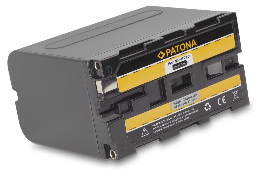 Baterie PATONA kompatibilní s Sony NP-F970 Baterie, pro videokameru, 6600mAh, Li-Ion PT1074