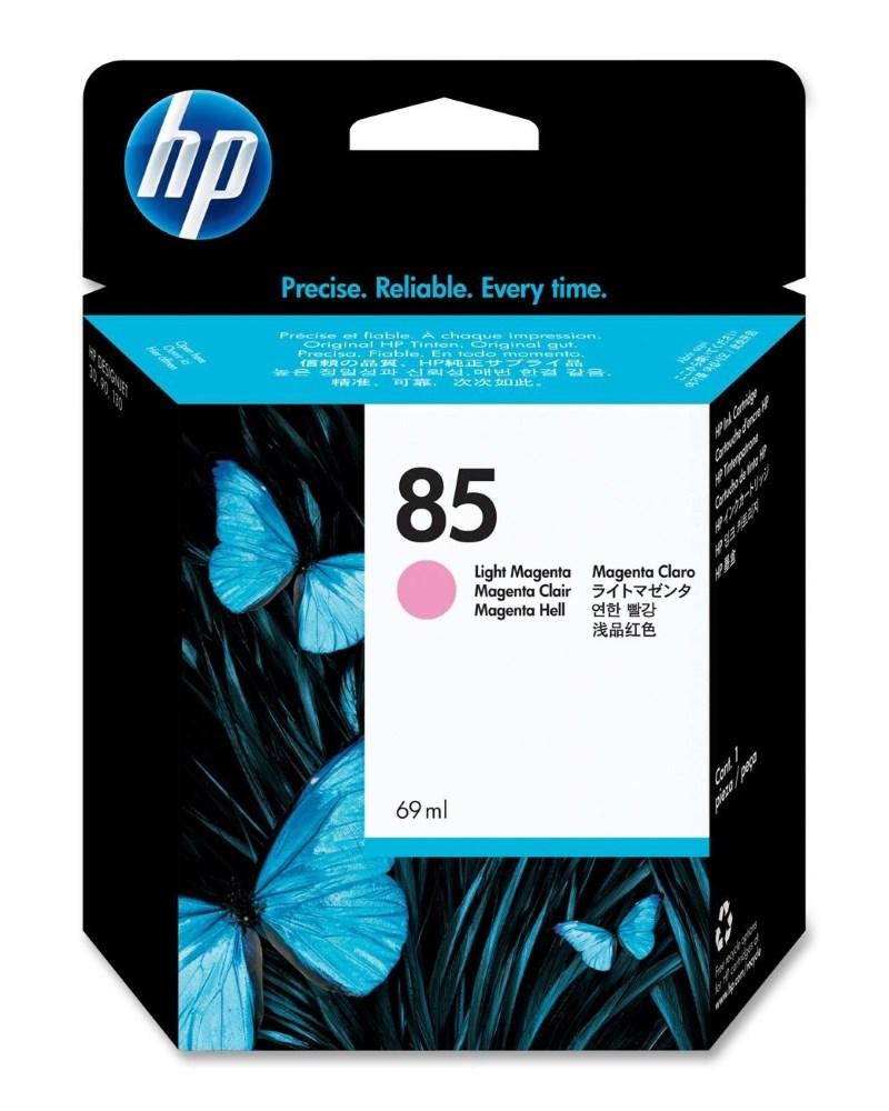 Inkoustová náplň HP 85 (C9429A) světle červená Inkoustová náplň, originální, pro HP DesignJet 30, 90, 130, světle červená